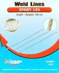 RARE-1-24-Weld-Lines-white-metal-length-150-cm-imitace-svaru