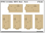 1-72-WWII-U-S-Ration-MENU-Boxes-Part-1