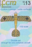1-32-4-colors-German-Lozenges-WWI-lower-surfaces-double-set