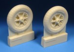 1-24-Messerschmitt-Bf-109E-F-Mainwheels-with-Ribbed-Tires-This-set-contains-a-pair-of-accurate-resin