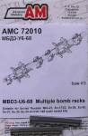 RARE-1-72-MBD3-U6-68-Multiple-bomb-racks-2-pcs-