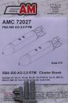 RARE-1-72-RBK-500-AO-25-RTM-Cluster-Bomb-2-pcs-