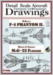 Drawings-for-F-4-Phantom-II-+-MiG-23-1-144
