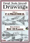 Drawings-for-F-4-Phantom-II-+-MiG-23-1-144