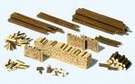 1-87-Stamme-Holzscheite-Holzstapel-Bausatz