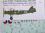 1-72-Decals-Letov-S-328-Czechoslovakia-1935-1939
