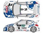 1-24-Works-Team-206-1999-Corse-Decal-Set-for-Tamiya-Peugeot-206-WRC