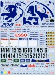 1-24-Works-Team-206-Factory-Backed-1999-Finnish-Sanremo-Decal-Set-for-Tamiya