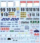1-24-Works-Team-206-2000-Sweden-Sanremo-Decal-Set-for-Tamiya