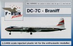 1-144-Douglas-DC-7-Decals-Braniff