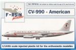 1-144-Convair-CV-990-Decals-American-Airlines-silk-screened-decals