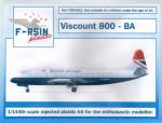 1-144-Vickers-Viscount-800-British-Airways-laser-decals-+-silk-screened-extras