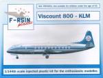 1-144-Vickers-Viscount-800-KLM-silk-screened-decals