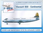 1-144-Vickers-Viscount-800-Continental-silk-screened-decals