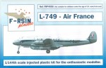 1-144-Lockheed-L-049-L-749-Constellation-Air-France-silk-screened-laser-decals