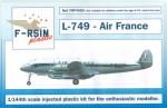 1-144-Lockheed-L-049-L-749-Constellation-Air-France-silk-screened-laser-decals