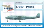 1-144-Lockheed-L-049-L-749-Constellation-Panair-do-Brasil-silk-screened-laser-decals
