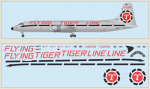 1-144-Canadair-CL-44-Flying-Tiger-Line-Includes-a-silk-screened-decal-