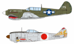 1-144-P-40-vs-Shoki-Wing-Kit-Collection-VS9-Painted-Semi-Finished-Assembly-Kit-1Box-10pcs