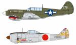 1-144-P-40-vs-Shoki-Wing-Kit-Collection-VS9-Painted-Semi-Finished-Assembly-Kit-1Box-10pcs