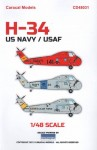 1-48-Sikorsky-H-34-New-marking-options-for-the-Sikorsky-S-58H-34-family-of-helicopters-
