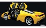 1-12-Enzo-Ferrari-Yellow-Semi-Assembled-Die-Cast-Model