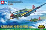 1-72-Kawasaki-Ki-61-Id-Hien-Tony-Silver-Color-Plated-w-Camo-Decals
