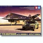 1-48-F-117A-Nighthawk-and-U-S-Modern-4x4-Utility-Vehicle
