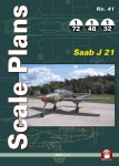 SCALE-PLANS-NO-41-SAAB-J-21-Scale-plans-in-1-72-1-48-and-1-32-of-Saab-J-21