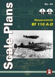 SCALE-PLANS-NO-44-MESSERSCHMITT-BF-110-A-D-Scale-plans-in-1-72-1-48