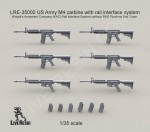 RARE-1-35-US-Army-M4-carbine-with-rail-interface-system-SALE