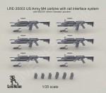 RARE-1-35-US-Army-M4-carbine-with-M203A1-40mm-Grenade-Launcher-SALE