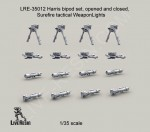 RARE-1-35-Harris-bipod-set-opened-and-folded-Surefire-tactical-Weapon-Lights-SALE