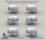 1-35-US-Army-ACH-MICH-helmet-with-cover-with-Mount-Plate-NVG-PVS-7-14-15-Surefire-HL1-A-Helmet-Light