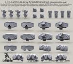 RARE-1-35-US-Army-ACH-MICH-helmet-accessories-set-SALE
