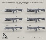 1-35-US-Army-M16A4-MWS-Automatic-rifle-with-M203A1-40mm-Grenade-Launcher