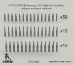 RARE-1-35-M2-Browning-50-Caliber-Machine-Gun-cartridges-and-spent-shells-set-SALE