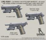 1-35-Colt-M45A1-M1070CQBP-MARSOC-45-pistol-with-empty-holster-included-surefire-light