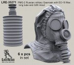 RARE-1-35-PMG-2-Russian-military-Gasmask-with-EO-16-filter-long-tube-and-OZK-Hood-SALE