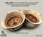 1-35-German-WWII-Steel-Helmet-LINER-universal-for-all-Live-Resin-German-helmets