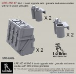 1-35-SAG-turret-type-II-upgrade-sets-ammo-boxes-and-cradles-with-M18-smoke-grenades