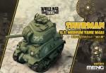 M4A1-Sherman-U-S-Tank-World-War-Toon-Meng-Model-Kids-Caricature-Series