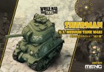 M4A1-Sherman-U-S-Tank-World-War-Toon-Meng-Model-Kids-Caricature-Series