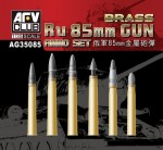 1-35-Ru-85mm-Gun-Ammo-Set-Brass