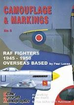 Camouflage-and-Markings-5-RAF-Fighters-1945-1950-Overseas-Base-SALE