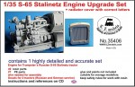 1-35-S-65-Stalinetz-Tractor-Engine-Upgrade-Set-+Radiator-cover-witch-correct-letters