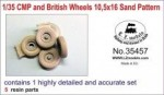 1-35-CMP-and-British-Trucks-10-5x16-Sand-Pattern-Wheels-for