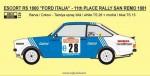 1-24-Ford-Escort-RS-1800-FORD-ITALIA-11th-Rallye-San-Remo-1981-Presotto