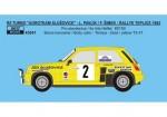 1-43-Decal-Renault-5-Turbo-AGROTEAM-Rallye-Teplice-1982