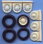 1-24-Wheels-wire-spoke-old-cars-+-tyres-4-pieces